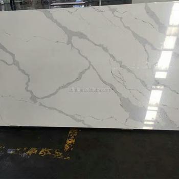 Horizon Carrara Quartz Stone Slabshefeng New Designed Calacatta