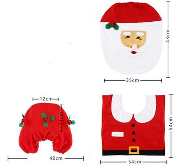 Tremendous Toilet Seat Covers Christmas Decoration 3 Piece Set Santa Elk Elf Toilet Seat Covers Rug Hotel Bathroom Set Xmas Gift Supplies Buy Christmas Squirreltailoven Fun Painted Chair Ideas Images Squirreltailovenorg