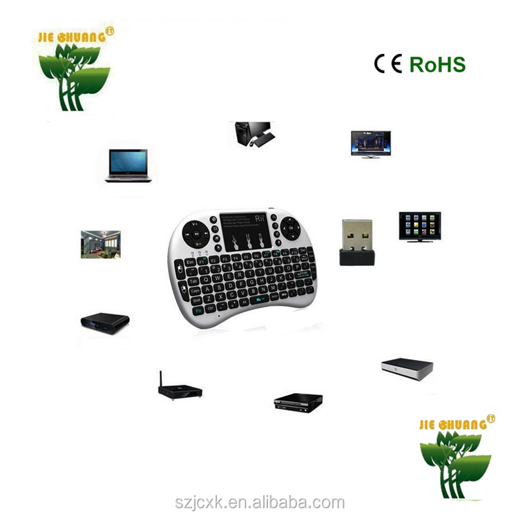 Mini I8 Wireless 2.4G Keyboard Air mouse wireless with Touchpad Mouse LED Backlit mini wireless keyboard for lg smart tv