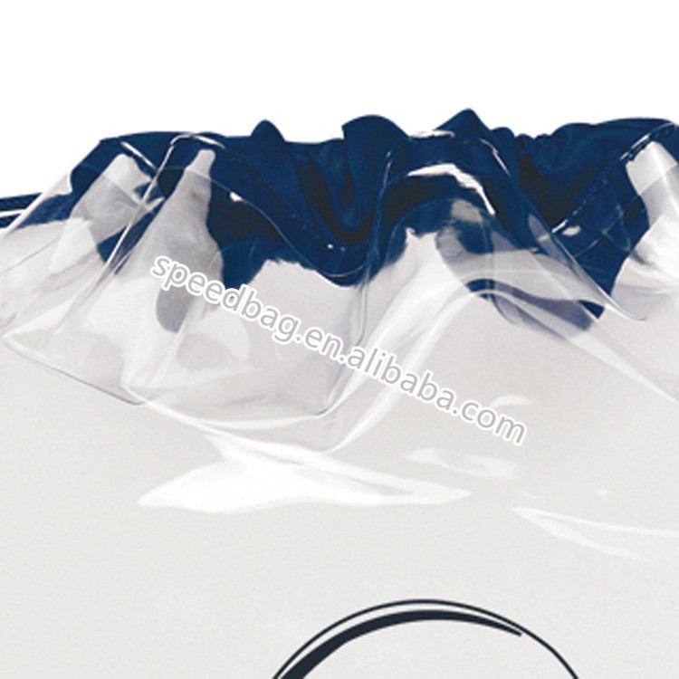 travel transparent pvc clear drawstring bag