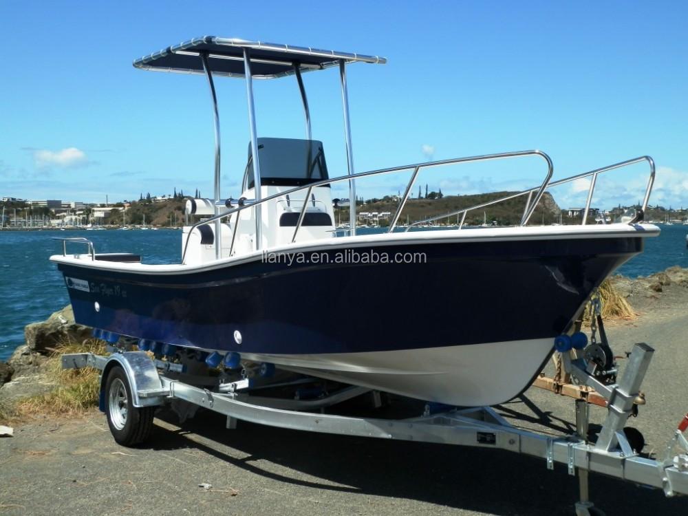Liya 19ft deep v hull fiberglass used fishing panga boats for Deep sea fishing boat for sale