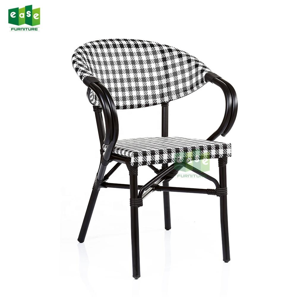 Outdoor garten stühle und tisch glas top set für restaurant kaffee shop 3pcs