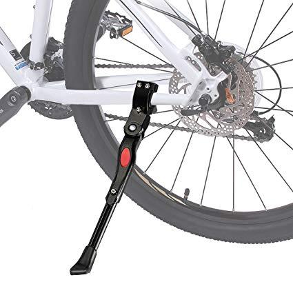 Adjustable  MTB Road Bike Side Kickstand Mountain Bicycle Alloy Stand Black