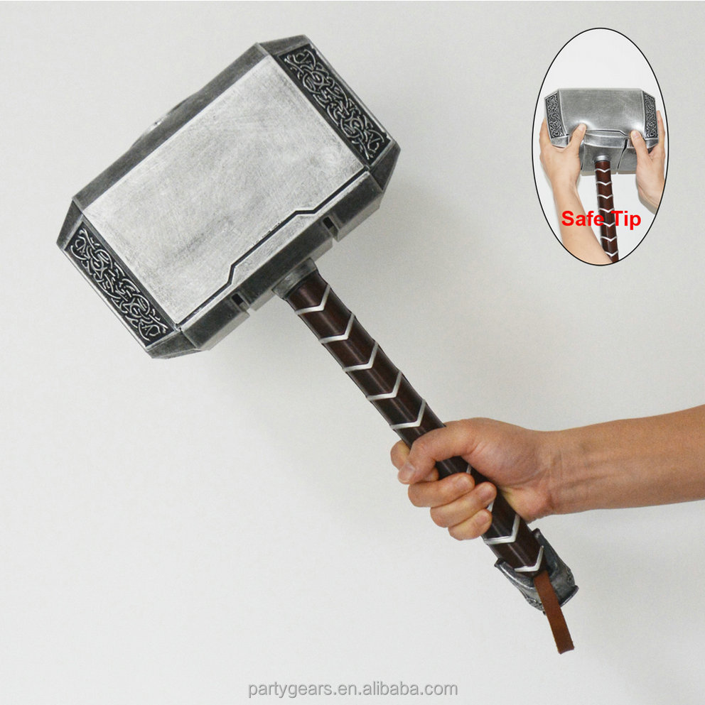 LARGEARS PU Foam thor's hammer toys China Prop Hammer of thor for combat Weapon