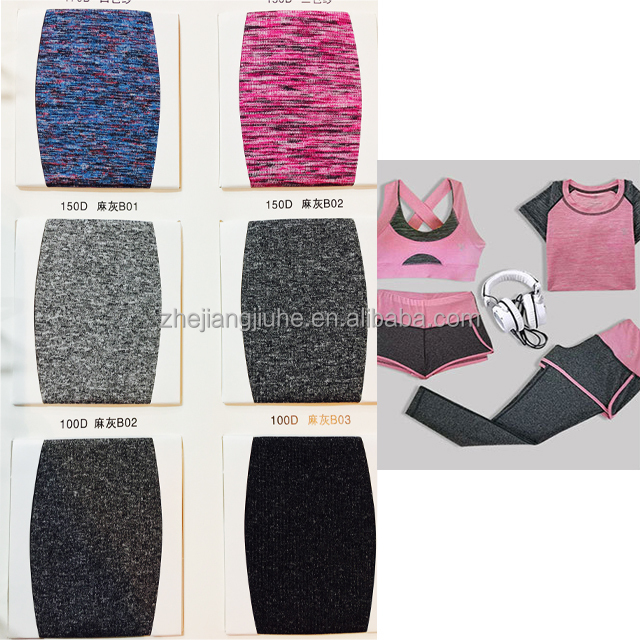 High Quality 100% Polyster/Viscose Cation Fabric Sportswear Activewear for wholesale from factory