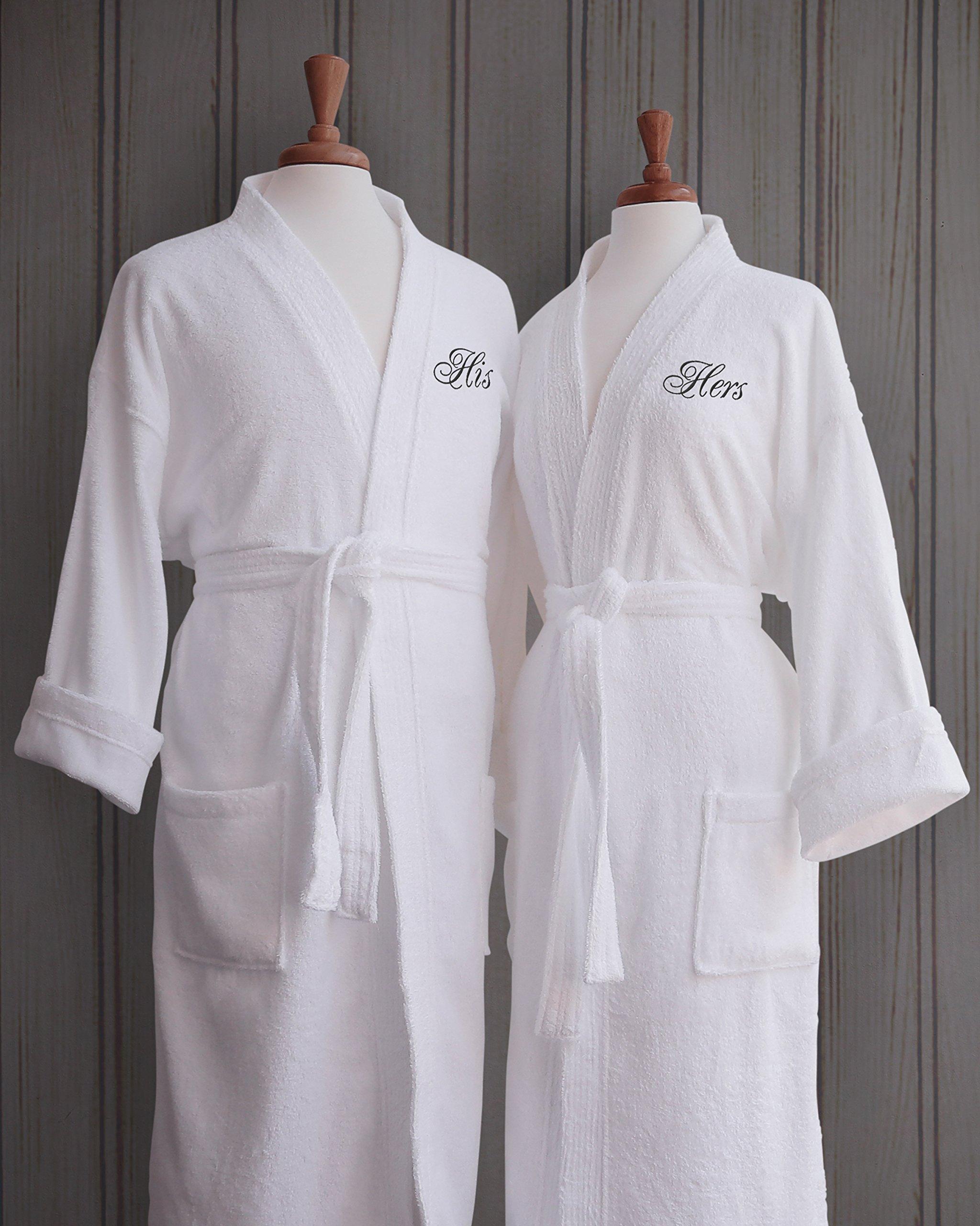 Luxor Linens - Terry Cloth Bathrobes - 100% Egyptian Cotton His   Her  Bathrobe Set 006d49ccf