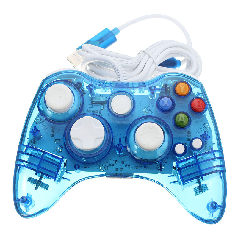 colorful xbox 360 controllers