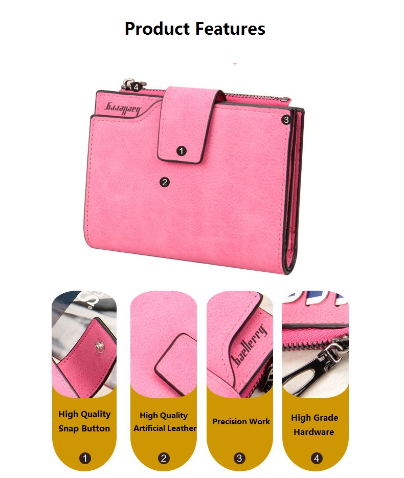 Baellerry Nice Hand Customize short Wallet coin Purse for Ladies,Women's Fashion Wallet