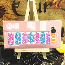 Pink Bule Cute Cartoon cat Nail Arts Nail Sticker Waterproof Nail Decal Sticker Gel Polish French