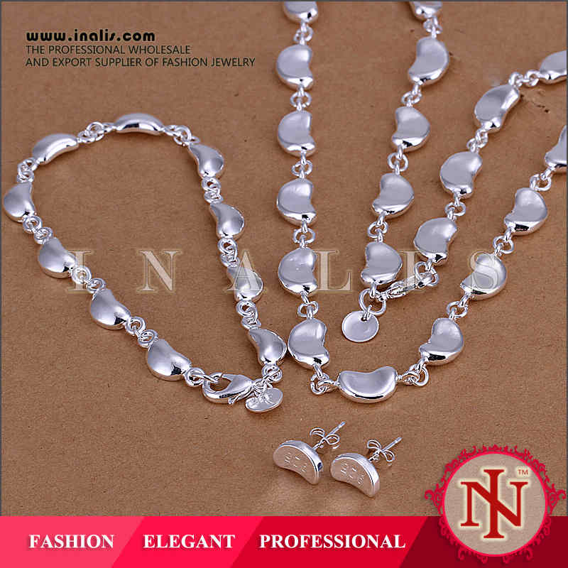 2014 Rohs certified silver 925 jewelry set LKNSPCS072
