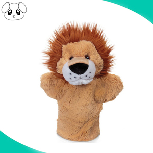 hot sale high quality custom plush 10 inch lion hand puppet factory in Shenzhen