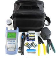 FTTH fiber Cold connection tool power meter visual fault locator fiber cleaver optical fiber tool kits