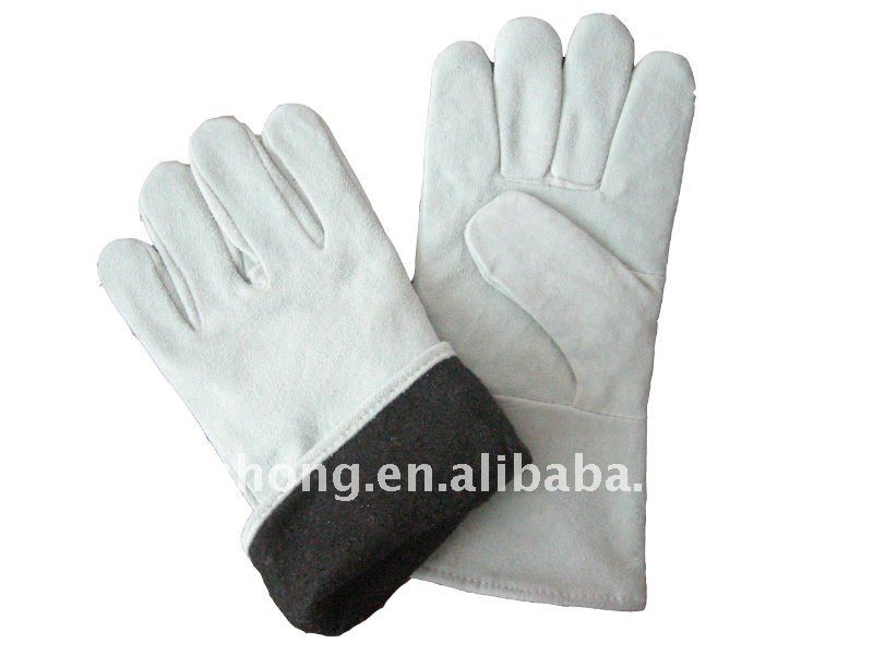 split cowhide safety working leather welder product glove