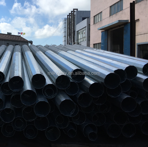 Galvanized electric power steel pole for transmission tower,lattice steel poles