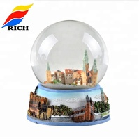 Wholesale customized 80mm souvenir glass snow dome