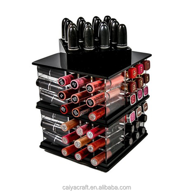 Cosmetica display roterende acryl lippenstift roterende acryl lippenstift houder