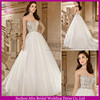 SD833 elegant open low back beaded bodice A line sexy crystal appliques for wedding dresses