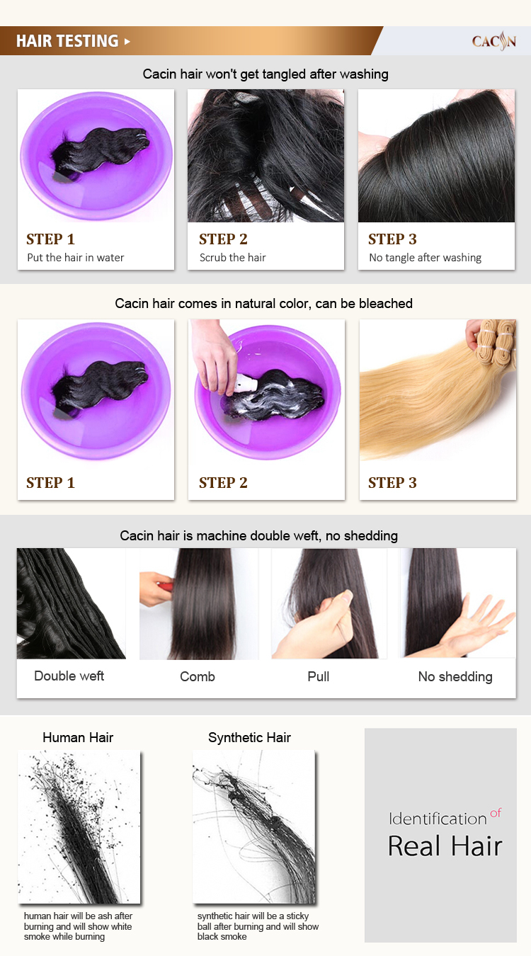 Top quality natural 100% unprocessed hair piece lace closure
