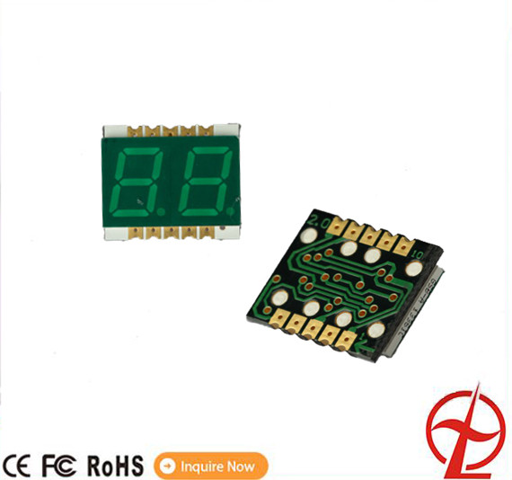 Giallo colore verde display a led a 2 cifre a 7 segmenti led display