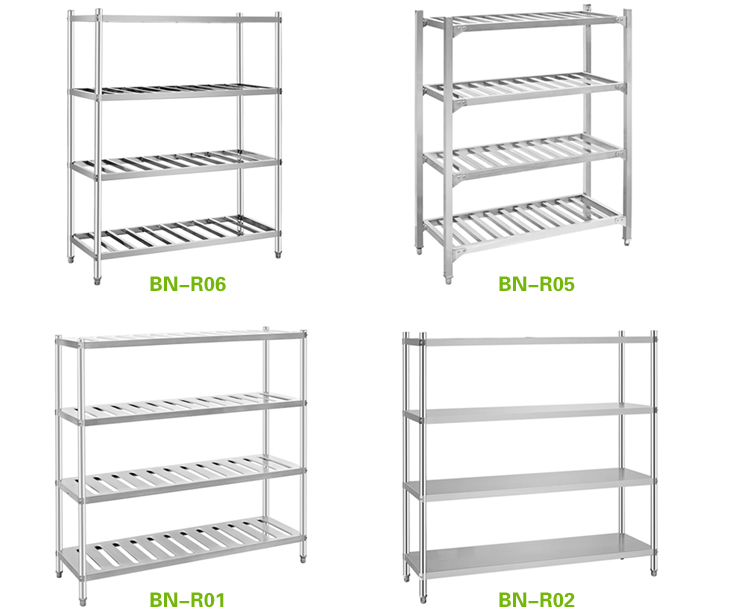 Solid Stainless Steel Cold Store Shelving Convenience