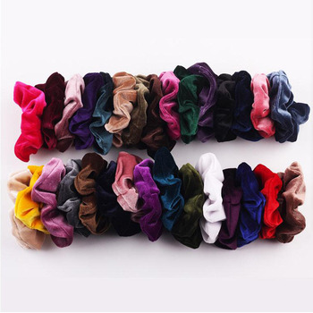 New arrival Velvet Elastic Band Scrunchies Girls' No Crease Hair Ties