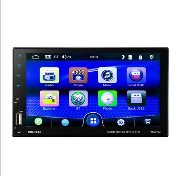 "2 din car radio 7"" HD Touch Screen Player MP5 SD/FM/MP4/USB/AUX/BT Car Audio For Rear View Camera Remote Control"
