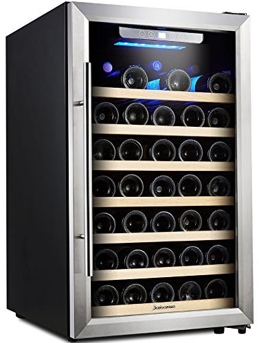 Get Quotations Kalamera 50 Bottle Compressor Wine Refrigerator Single Zone With Touch Control