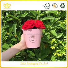Buy flower boxes for roses packaging, cup shape flower boxes, cup shape rose boxes