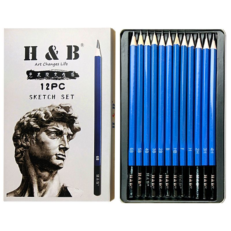 12pcs school office pencil manufacturer art pencils sketching supplies
