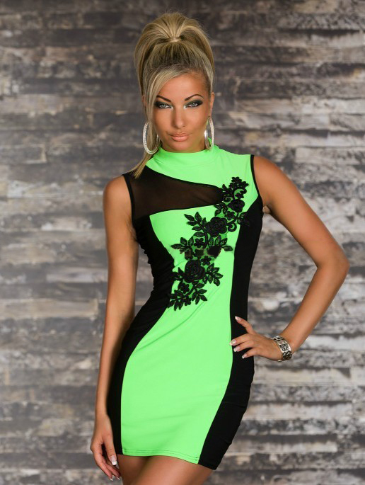 Lime Green Club Dresses dresses women lime green