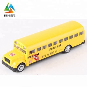 kids decorate pull back MZ 25031 car model school toy bus with opening doors