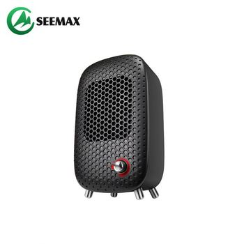 Portable Noiseless 500W Etl Colorful Ptc Mini Compact Desk Electric Air Heater Fan