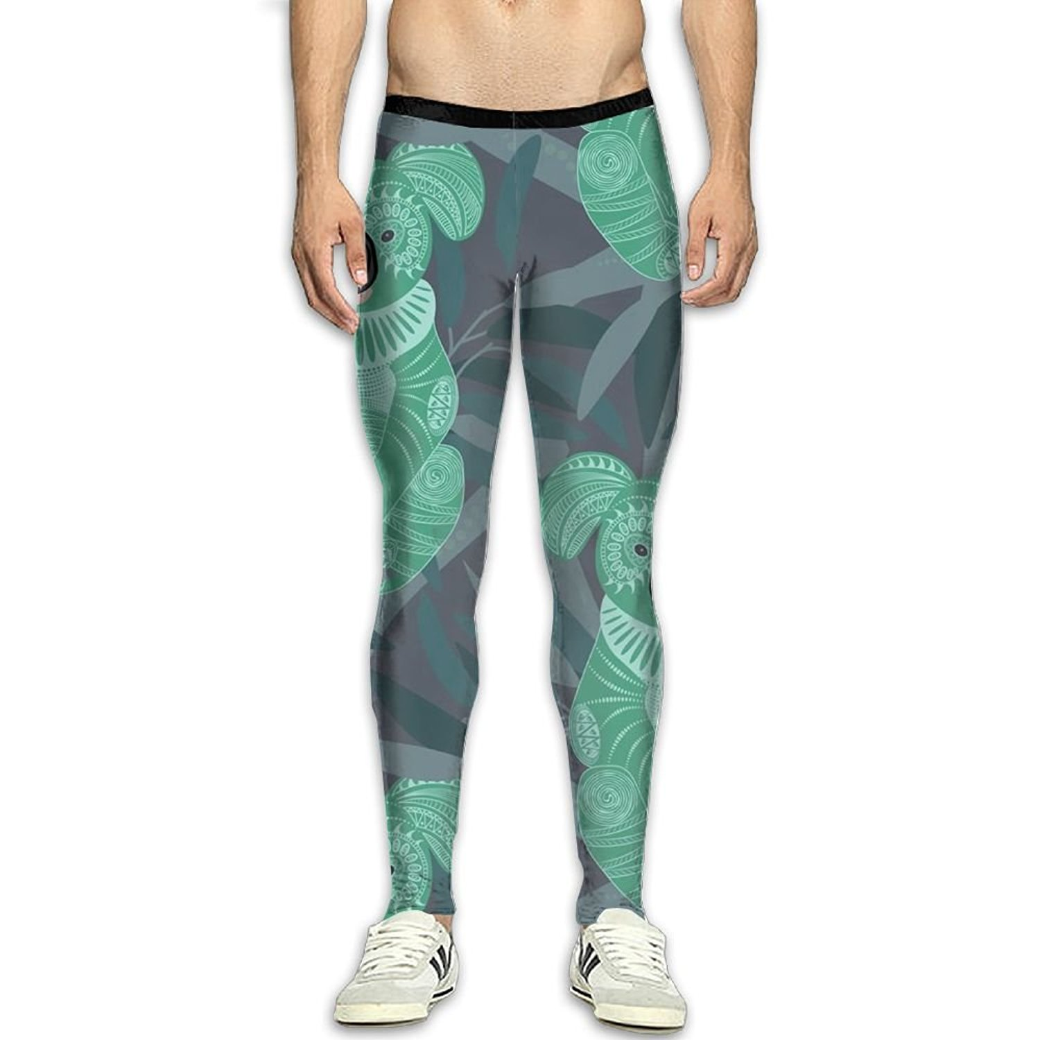 09c68132e5aae Get Quotations · MSYGP Cute Koala Green Animals Compression Pants Men Colorful  Tights Leggings Running Gym Tights For Men