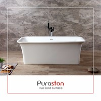 Dupont solid surface bathtub for two person spa