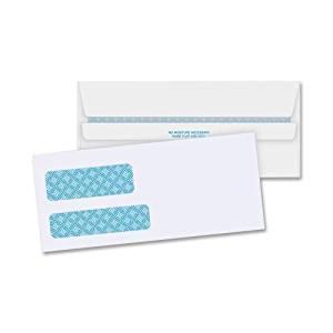 "Wholesale CASE of 5 - Bus. Source No. 9 Invoice Envelopes-Double Window Envelopes,No. 9,3-7/8""x8-7/8"",500/BX,White"