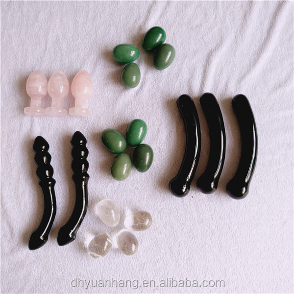 natural crystal gemstone anal plugs, new shape obsidian massagers