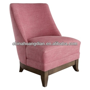 HDL1256 TV accent chair pink fabric sofa chair