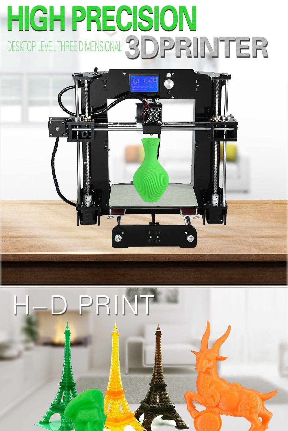 2016 New Arrival Desktop 3D Printing Machine High Speed 3D printer kit