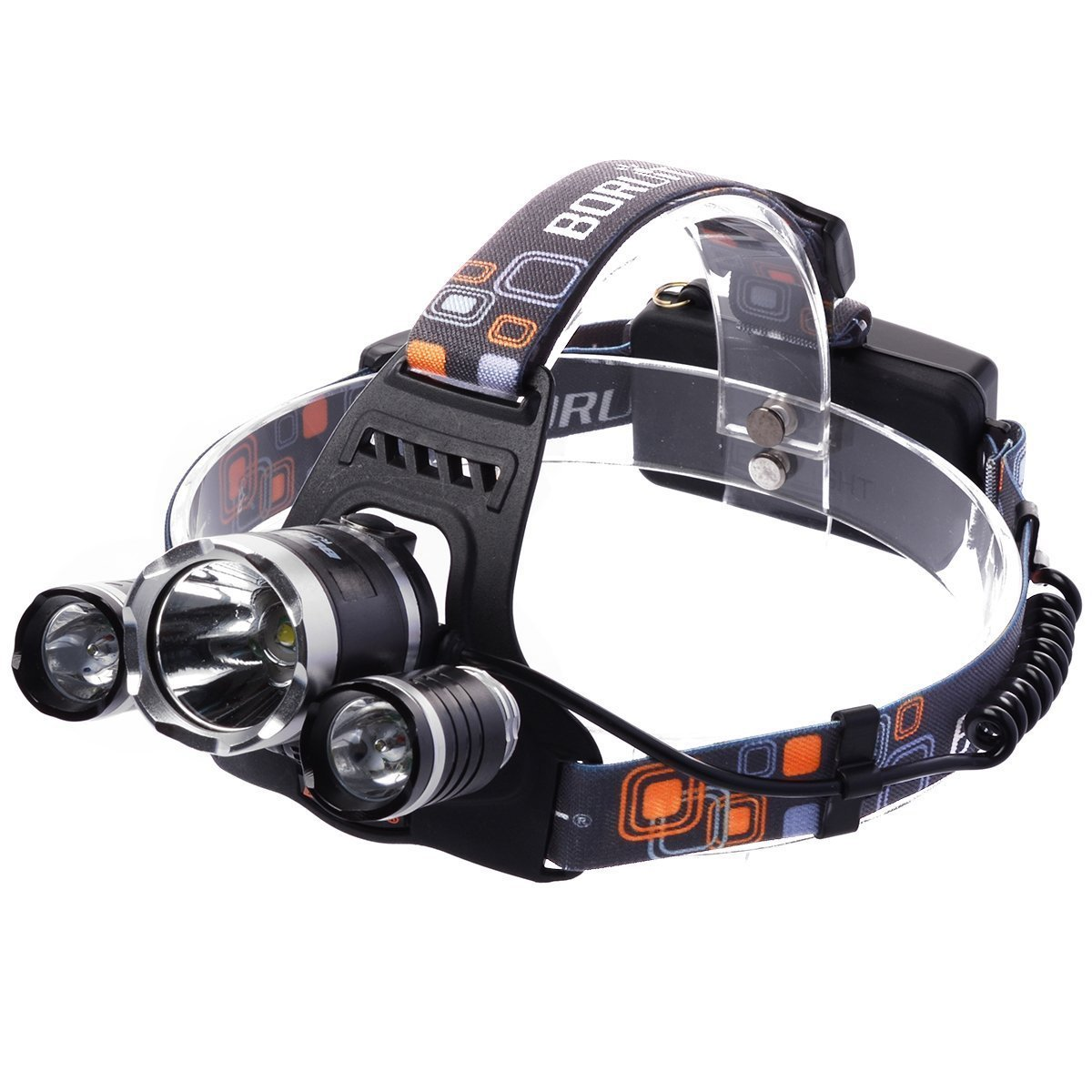 TaiChuDa 5000 Lumen LM LED Bicycle HeadLight HeadLamp 3 X CREE XM-L XML T6 Bike Light + USB Cable Battery Camping Fishing Hiking