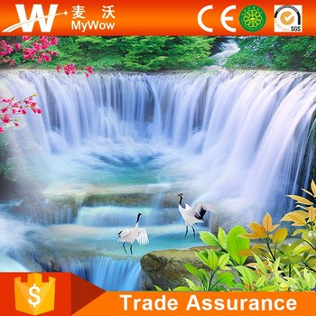 Waterfall With Egret Wall Mural Natural Scenery Wallpaper Buy Waterfall Wall Mural Scenery Wallpaper Natural Scenery Wallpaper Product On