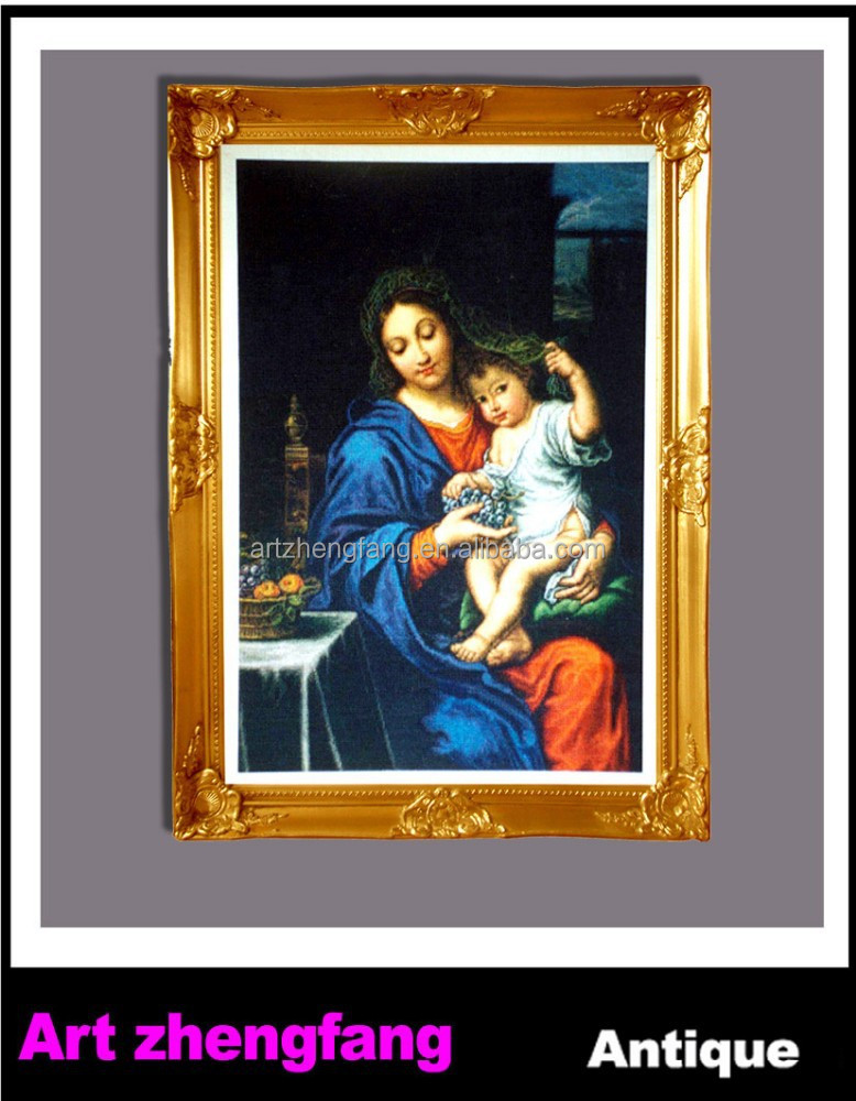 Gold decorative funia oil painting picture frame