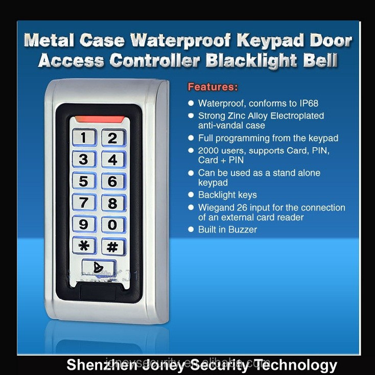 Standalone Rfid Door Access Keypad Rfid Access Control With Ip68 ...