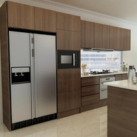 15 days fast delivery factory supply latest Melamine kitchen cabinet design