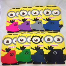Soft Cute Cartoon tablet PC Accessory for Apple iPad mini 3 2 1 Despicable Me Minion Rush Silicone protective Back Cases Cover