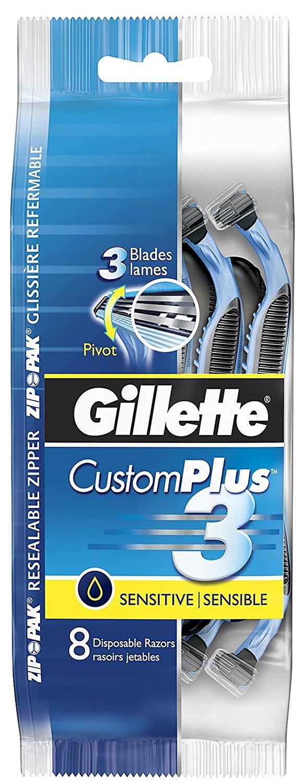 Gillette CustomPlus 3 Sensitive Disposable Razors - 8 ct
