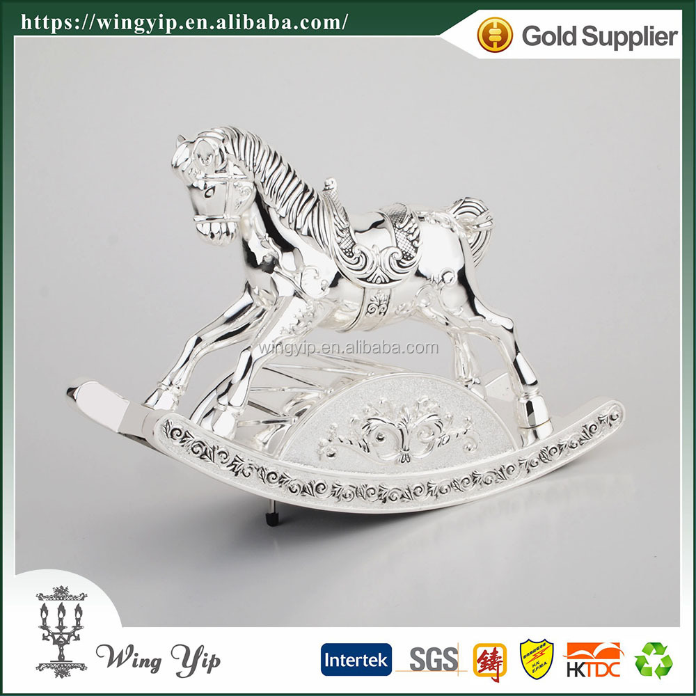 Wholesales Manufacturer Horse Blank Silver custom Music box for gift