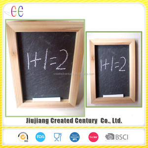 Cheap natural slate chalk writing board with chalk