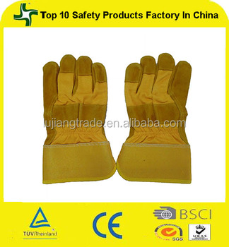 Yellow Cow Split Grade Abc Leather Welding Gloves Double Palm ...