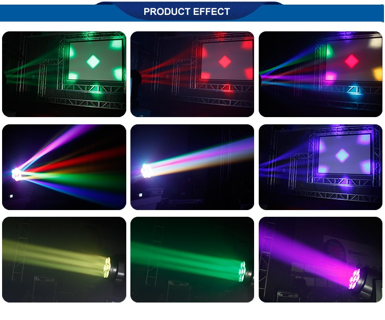 China supplier 7x15w 4 in 1 bee eye led beam wash moving head for wedding decoration