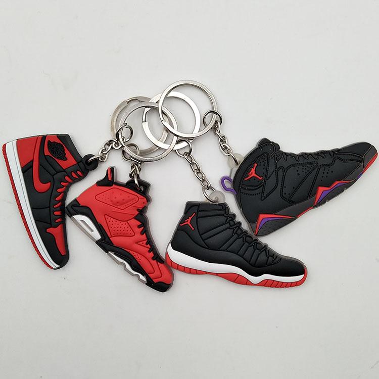 3d Mini Chaussures Clés Jordan Gros Plastique Personnalisé Porte Air Sneaker En n8k0OPw